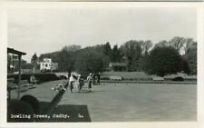 More details for real photo postcard of the bowling green, oadby, leicester, leicestershire