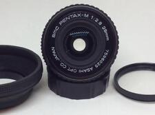 PENTAX SMC PENTAX-M 28mm f/2.8 SLR MF Lens Japan w hood Haze UV