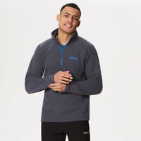 Regatta Mens Kenger Half Zip Fleece Top Grey Sports Outdoors Warm Breathable