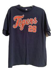 Prince Fielder Detroit Tigers #28 Blue Baseball T-Shirt Men's Xl