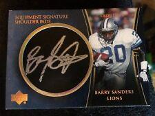 (Super Rare) 2005 1/5 BARRY SANDERS EXQUISITE shoulder pads, Autograph