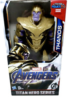 "Hasbro MARVEL TITAN HERO Series THANOS 12"" inch INFINITY WAR ENDGAME power fx"
