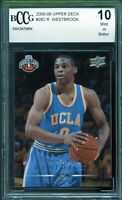 2008-09 Upper Deck #262 Russell Westbrook Rookie Card BGS BCCG 10 Mint+