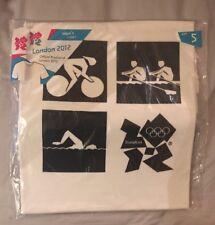 Men's London Jeux Olympiques de 2012 Hommes T-shirt Petit Officiel Blanc Top Aviron Cyclisme