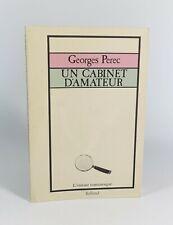 """PEREC Georges """"Un cabinet d'amateur"""" Balland """"L'instant romanesque"""", 1979. EO."""