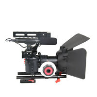 DSLR Camera Video Cage Stabilizer+Follow Focus+Matte Box For Sony A7 A7R #3