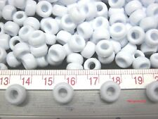 200 White Color Pony Beads School Kids Crafts Jewelry Making Toys Diy 9mm