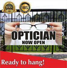 Optician Now Open Banner Vinyl / Mesh Banner Sign Optometrist Optician Glasses