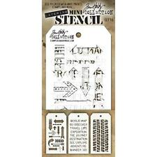 Tim Holtz Mini Layering Stencil ~ SET 15 ~ THMST015 ~ Stampers Anonymous