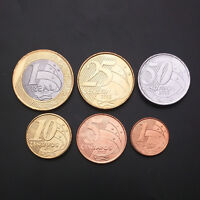 5 centavos 1 real 2007-2008 UNC Brazil set of 5 coins