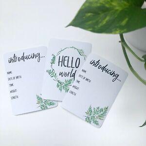 Milestone Cards for Twins, Fern Design