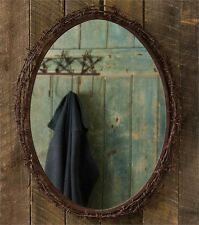 Rustic Wall Mounted Mirror With Barbed Wire Frame Western Country Home Decor