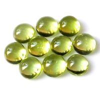 Wholesale Lot 5mm Round Cabochon Cut Natural Peridot Loose Calibrated Gemstone