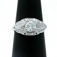 Vintage Platinum Diamond Engagement Ring Old Cuts 1.08 tcw $7,000 Retail