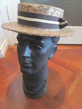 VINTAGE ENGLISH Boater Cappello di OLNEY Headwear England
