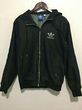 ADIDAS ORIGINALS Dark Blue Denim Hood Pocket Jacket Top Shirt Hoodie Medium M