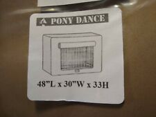 "Pony Dance Dog Crate/ Pet Kennel Cover, Mocha, 48""Lx30<