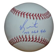 "Will Smith Autographed Baseball Dodgers w/ ""Debut"" Inscription (Fanatics)"