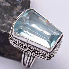Aquamarine Ethnic Handmade Antique Design Ring Jewelry US Size-5.5 AR 40136