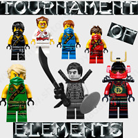 NEW 2021 LEGO NINJAGO TOURNAMENT ELEMENTS MINIFIGURE SET SHADE GRIFFIN SAMURAI X