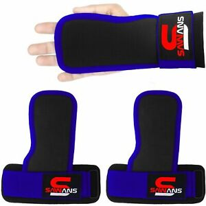 Gym Weight Lifting Rubber Grip Training Club Straps Glove Wrist Support Bar Wrap