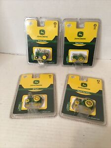 John Deere Athearn Diecast 1:87 Scale- Lot Of 4 Tractors