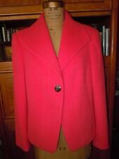 EVAN PICONE BEAUTIFULLY TAILORED CORAL CLASSIC BLAZER OR JACKET, SZ L, FLAWLESS!
