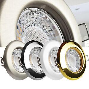 LED Einbaustrahler Downlight Deckenstrahler Einbaustrahler Set dimmbar GU10 230V