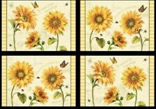 """New listing Wilmington """"Follow The Sun"""" Set of 4 Place Mats-Made in Usa by Mj Quilts"""