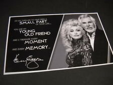 DOLLY PARTON Kenny Rogers - friend, moment, memory Original 2014 promo advert