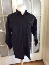 Vintage Rare Toraichi Brand Fashionable Wear Size 3L Solid Black Jacket Shirt