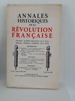 Revista Anales Históricos de La Revolution Francaise Janv-Mars 1967 N º 187