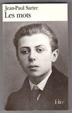 Les Mots - Jean-paul Sartre. .Folio n°607. Bon état.