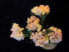 Vintage Millinery Flower Retro Cluster Lot for Pale Pink Hat Wedding + Hair Z39