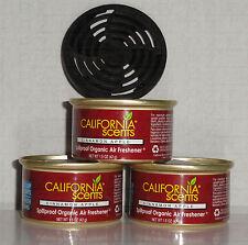 California Scents 3 Duftdosen Cinnamon Apple ► Apfel – Zimt  + 1 Deckel