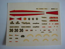 F1 DECALS KIT 1/43 MC LAREN M23 IBERIA 1977 DRIVER VILLOTA 1/43 DECALS