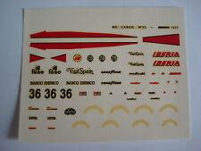 F1 DECAL 1/43 MC LAREN M23 IBERIA 1977 DRIVER VILLOTA