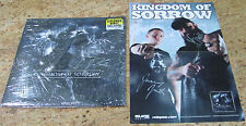 2 Kingdom of Sorrow Items Includes Signed Poster & Album Jamey Justa, USC#645