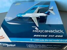 RARE! 1/400 Scale Die Cast model Mexicana Click Boeing 717-200 Gemini Jets