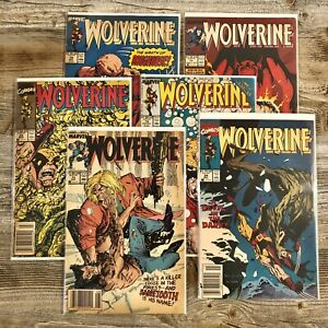 WOLVERINE #s 10, 13, 18, 19, 22, 34 (Marvel, 1989-up) | Lot of 6 - See Pics - NR
