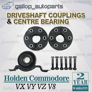 Tailshaft Couplings + Centre Bearing Commodore VX VY VZ V8 2000~2006 Sedan Coupe