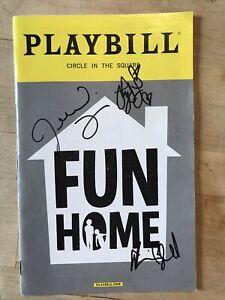 Cast Signed FUN HOME Sept 2016 Broadway AUTOGRAPHED Playbill! SYDNEY LUCAS +!