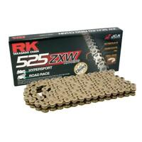 RK Cadena 525ZXW Oro Moto (100FT = 1920) Enlace de Remache