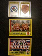 Panini Football 87 - Blackburn Rovers & Bradford City Badges and Team Stickers