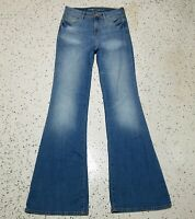 Old Navy Women's Denim Jeans ~ Sz 4 ~ Blue ~ Flare ~ High Rise ~ Distressed