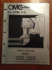 Nice Original Omc 1983 Sea Drive Outboard 2.6 Litre V6 Parts Catalog Just $8.95