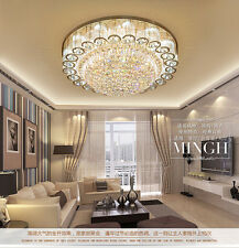 """Dia 23"""" Luxury LED K9 Crystal Ceiling Lamp Living Room Pendant Light Chandelier"""