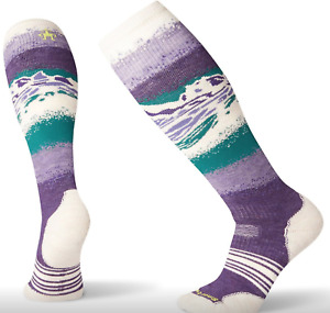Smartwool Womens PhD Snow Socks M Purple