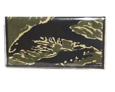 Camouflage Green & Black Cotton & Vinyl Checkbook Cover #141 New Handmade