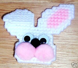 """PINS~FLOPPY EAR BUNNY~Wiggle Eyes~Handcrafted~Hand Stitched~2&3/4"""" By 3""""~NEW"""